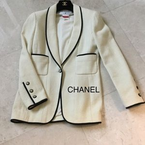 CHANEL cotton and silk jacket size 40 DryCleaned